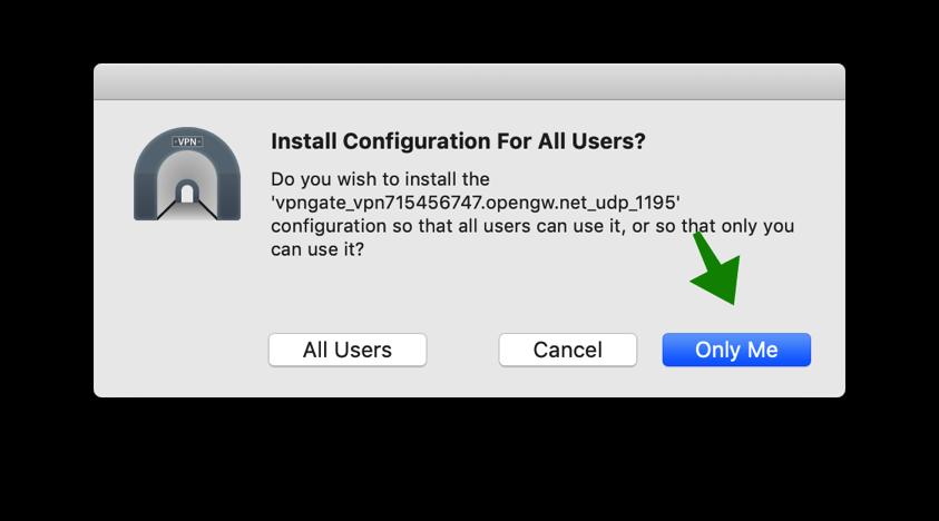 openvpn bestand installeren mac
