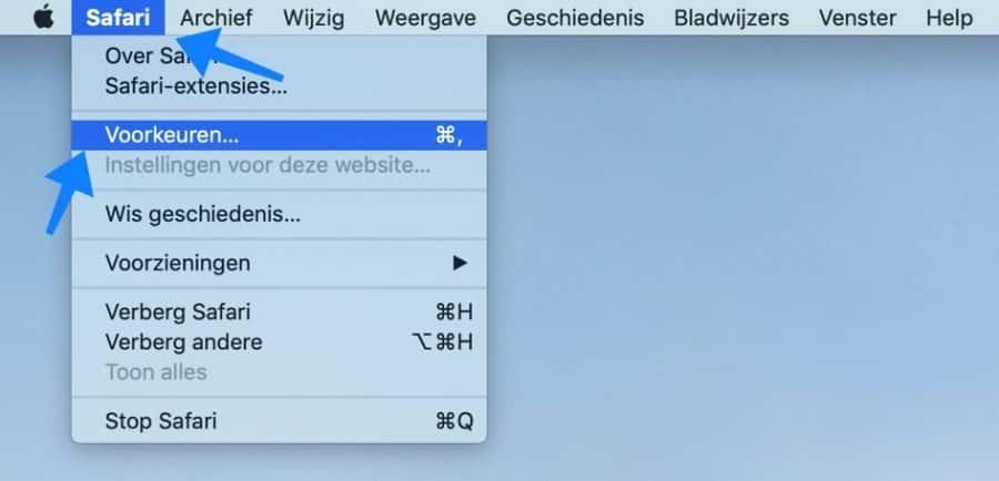 safari voorkeuren cache legen voor trage mac