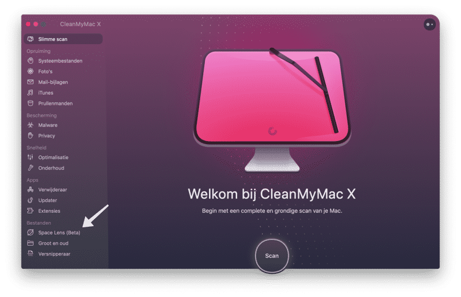space lens - cleanmmymac