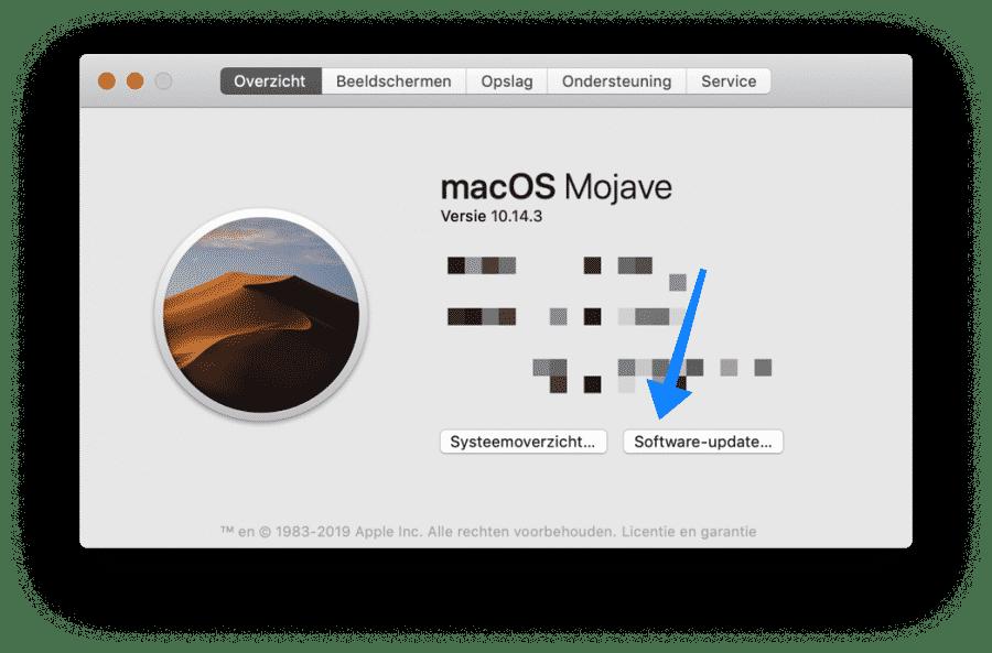 trage mac updates installeren