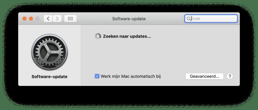 updates installeren trage mac