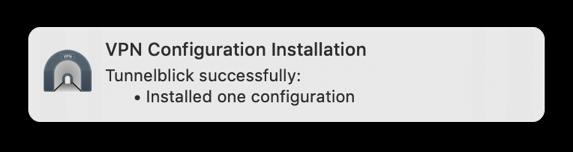 vpn configuratie bestand geinstalleerd mac