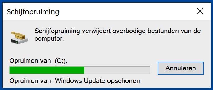 windows 10 bestanden opruimen