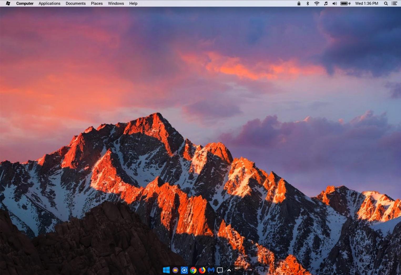 windows 10 mac uiterlijk