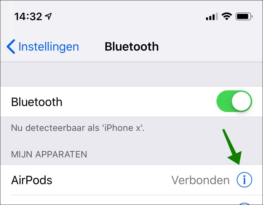 airpods bluetooth aanzetten