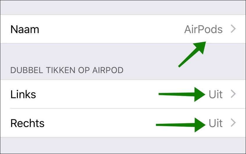 airpods instellingen wijzigen