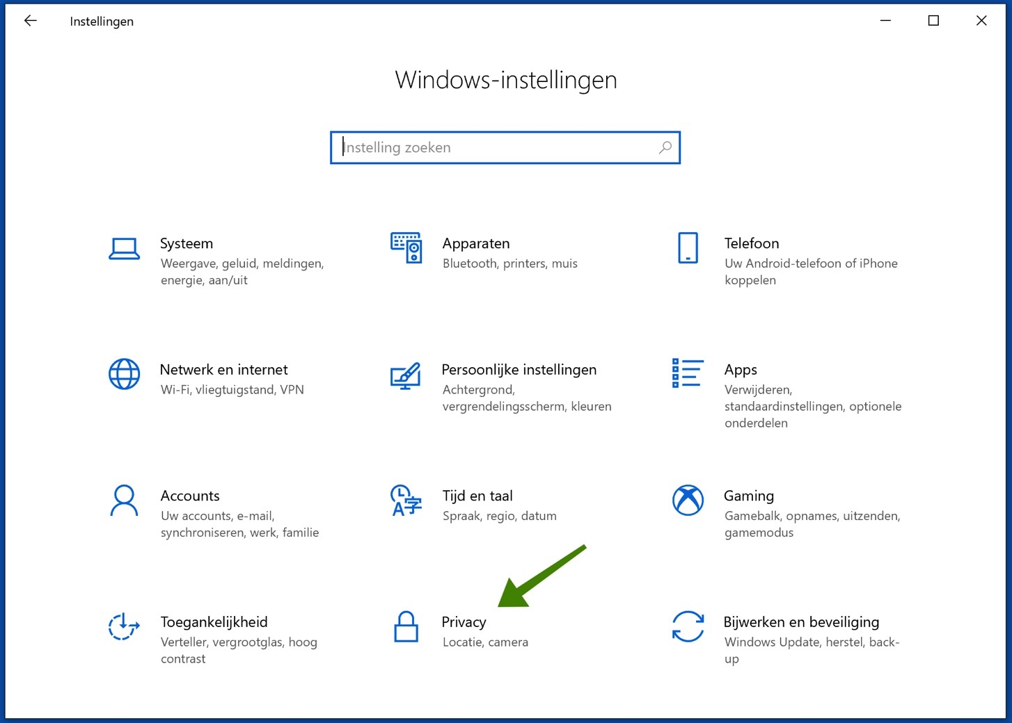 privacy instellingen windows 10