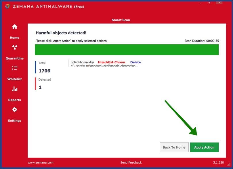 zemana heeft adware gevonden in google chrome browser extensie