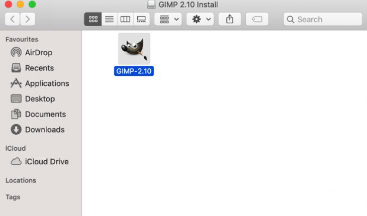gimp installatie