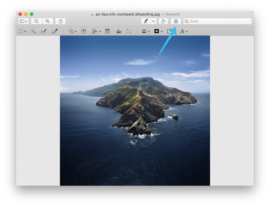 voorvertoning mac - afbeelding annoteren