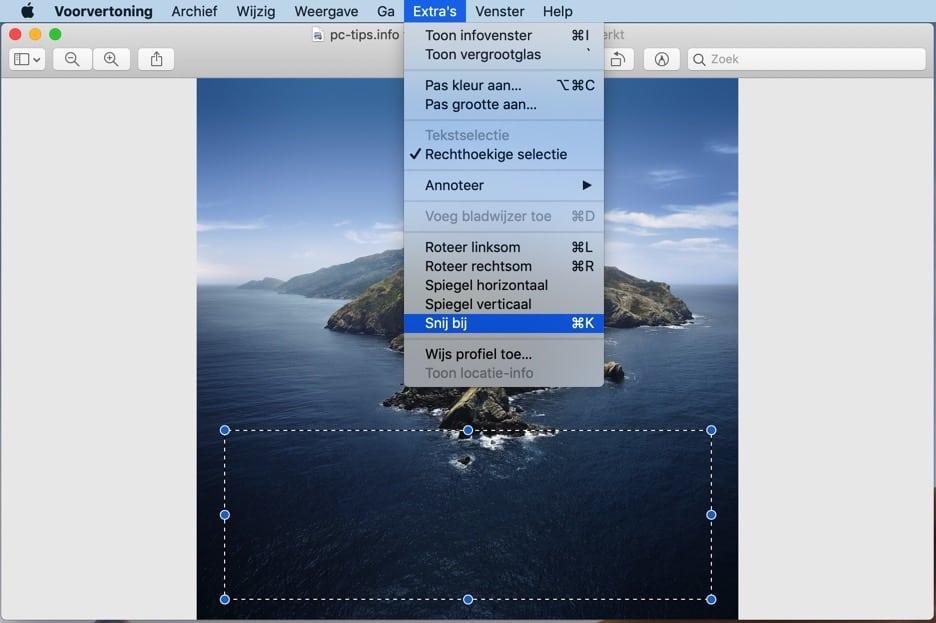 voorvertoning mac - afbeelding bij snijden