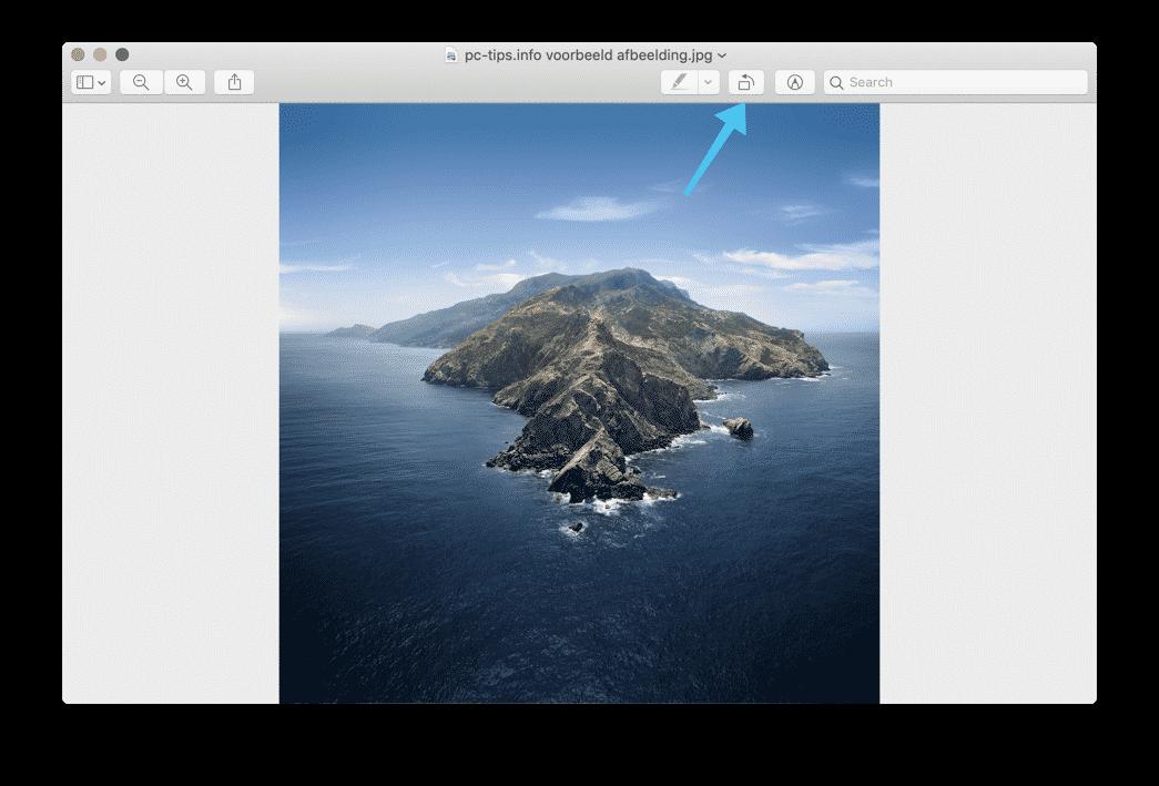 voorvertoning mac - afbeelding roteren