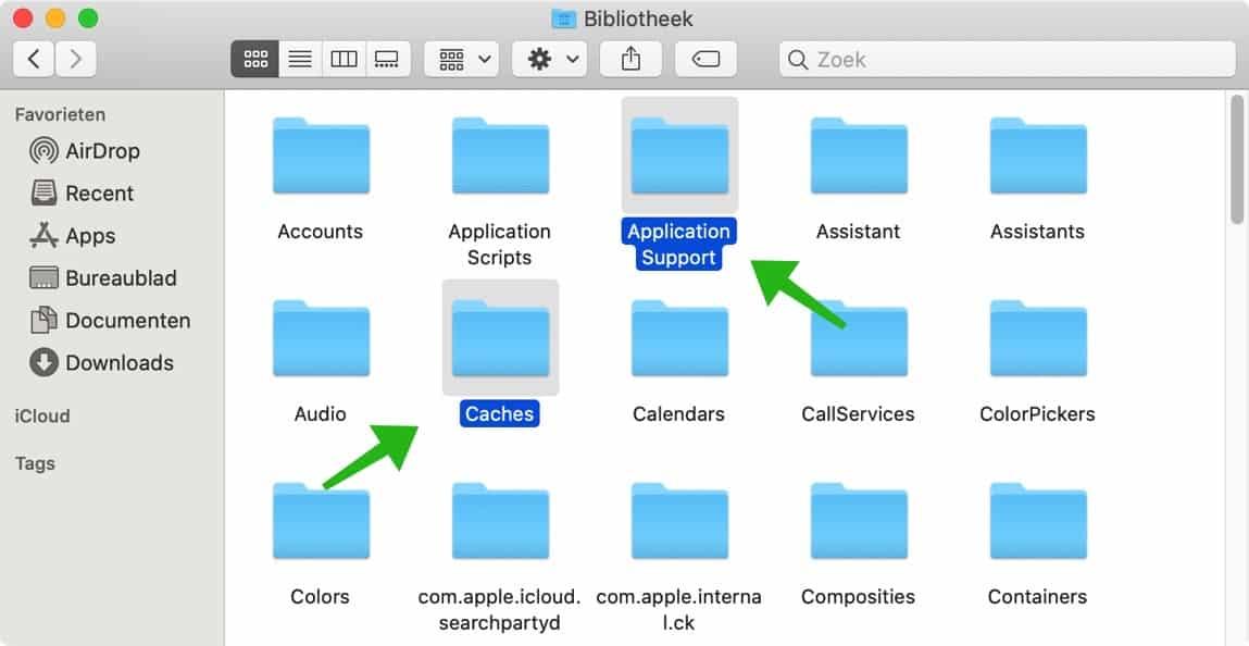 bibliotheek folder mac osx