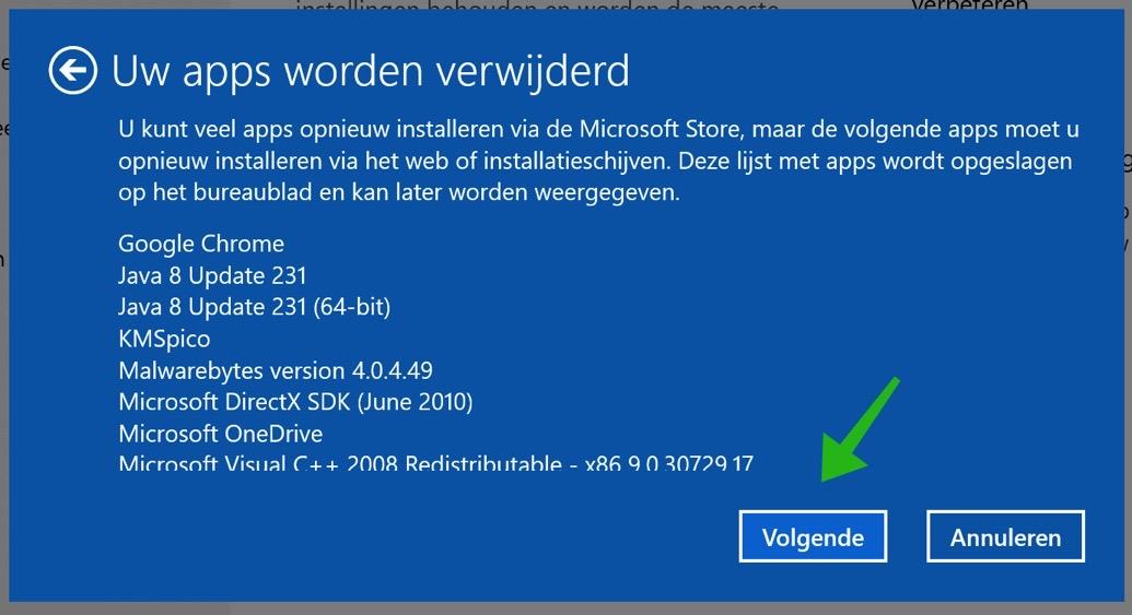 windows 10 nieuwe start apps verwijderd