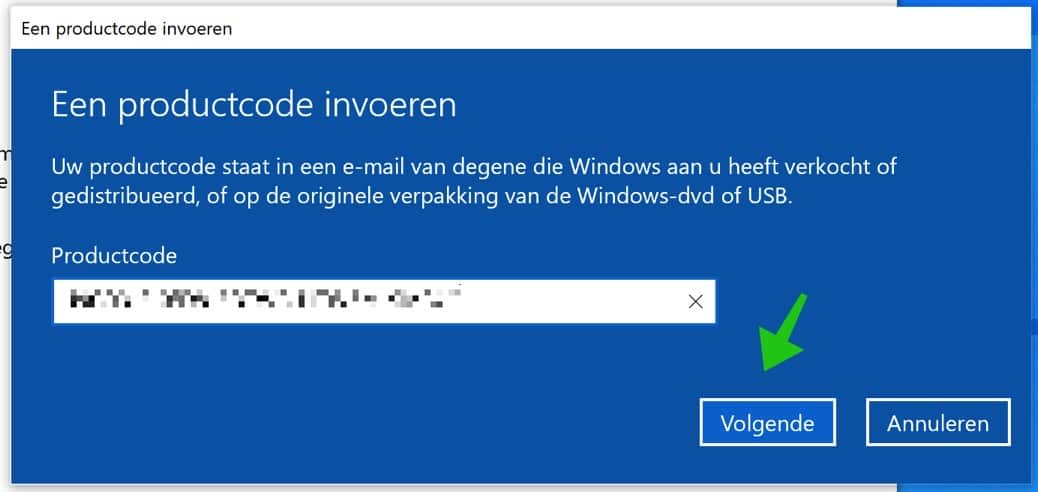 activatiecode windows 10