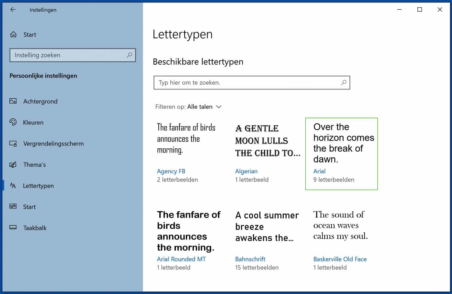 lettertype windows installeren