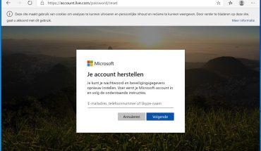 microsoft account wachtwoord herstellen