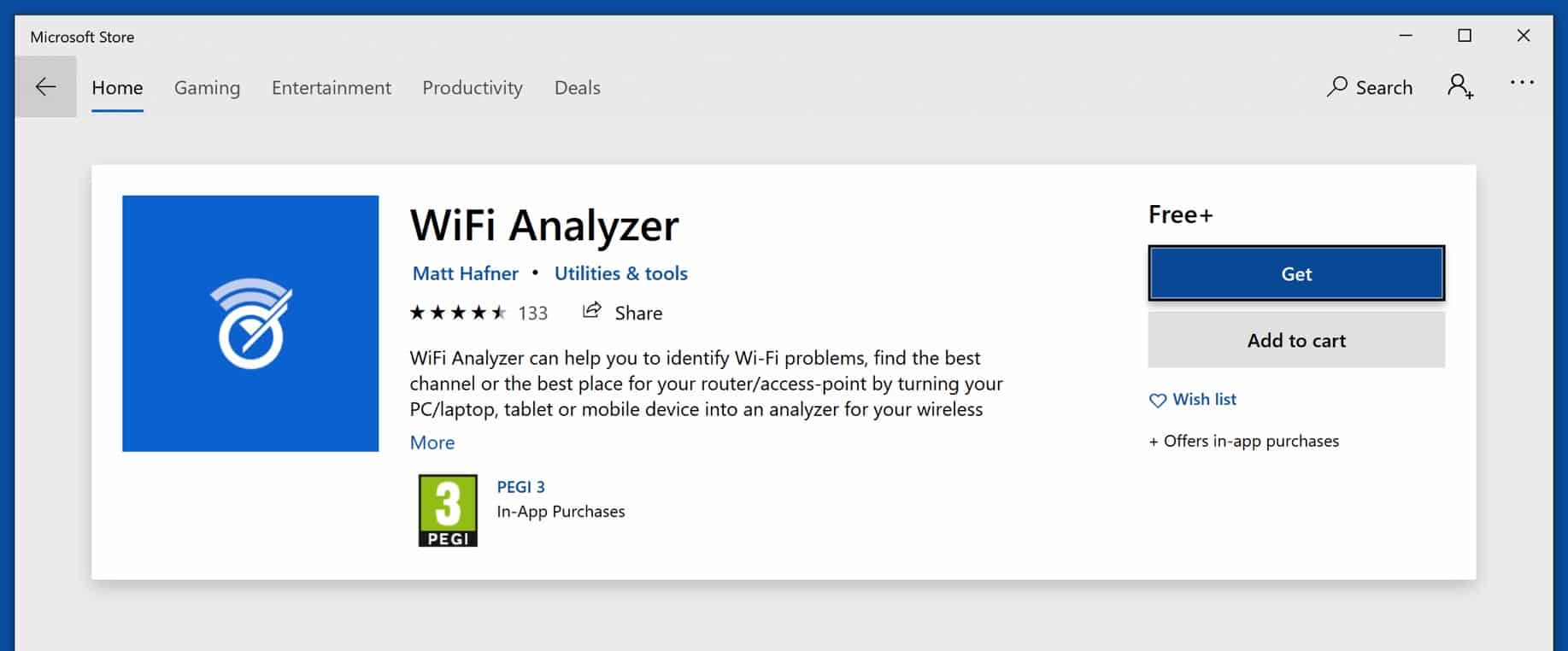 wifi analyzer applicatie
