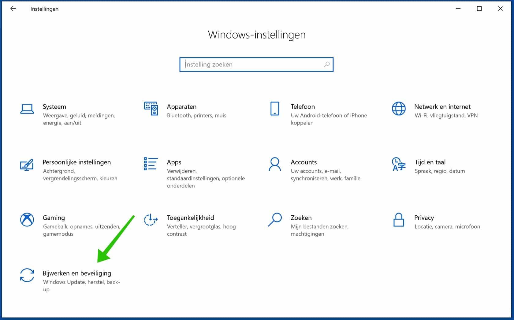 windows beveiligings instellingen