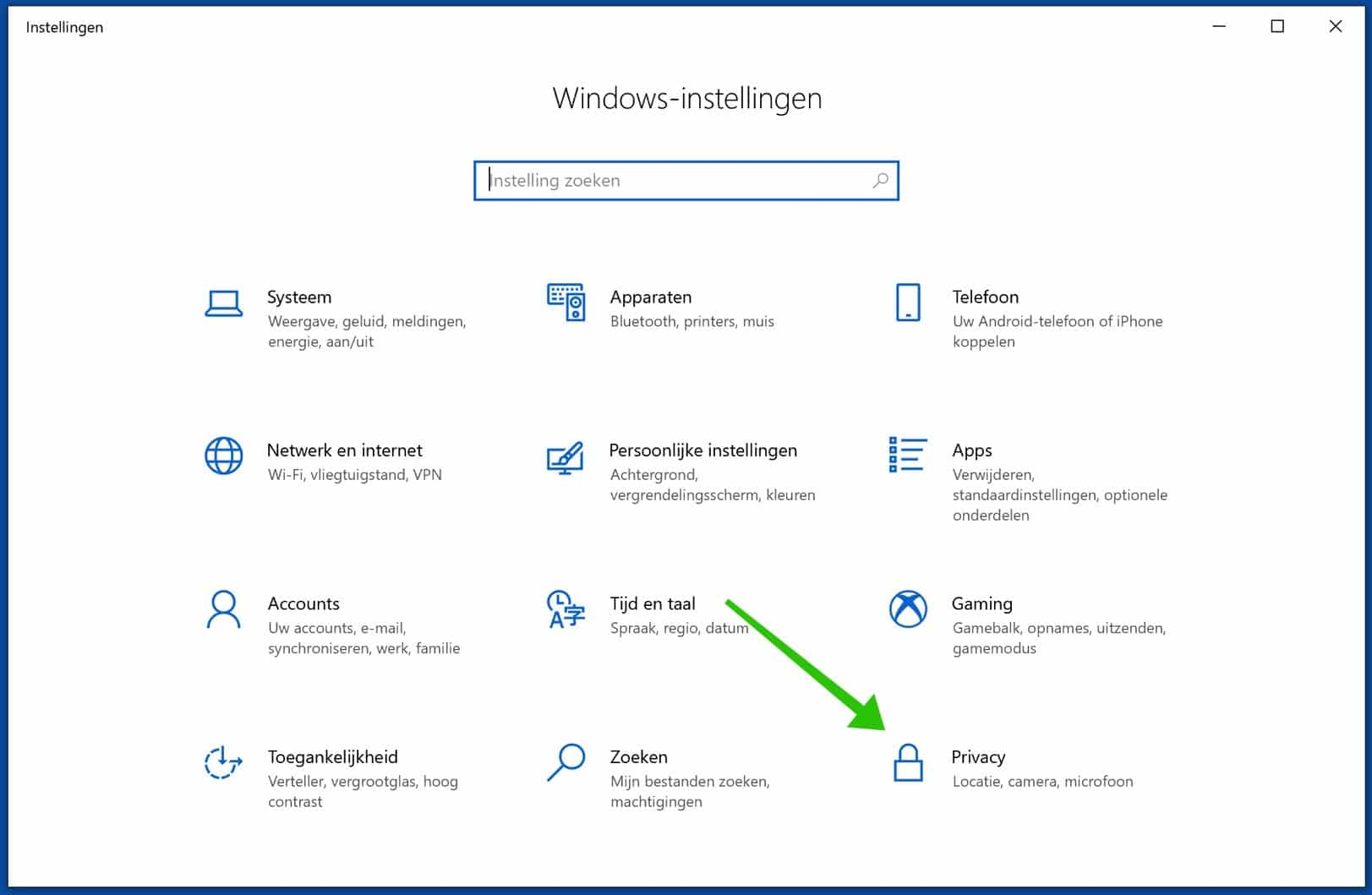 windows privacy instellingen