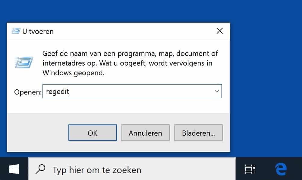 windows register editor
