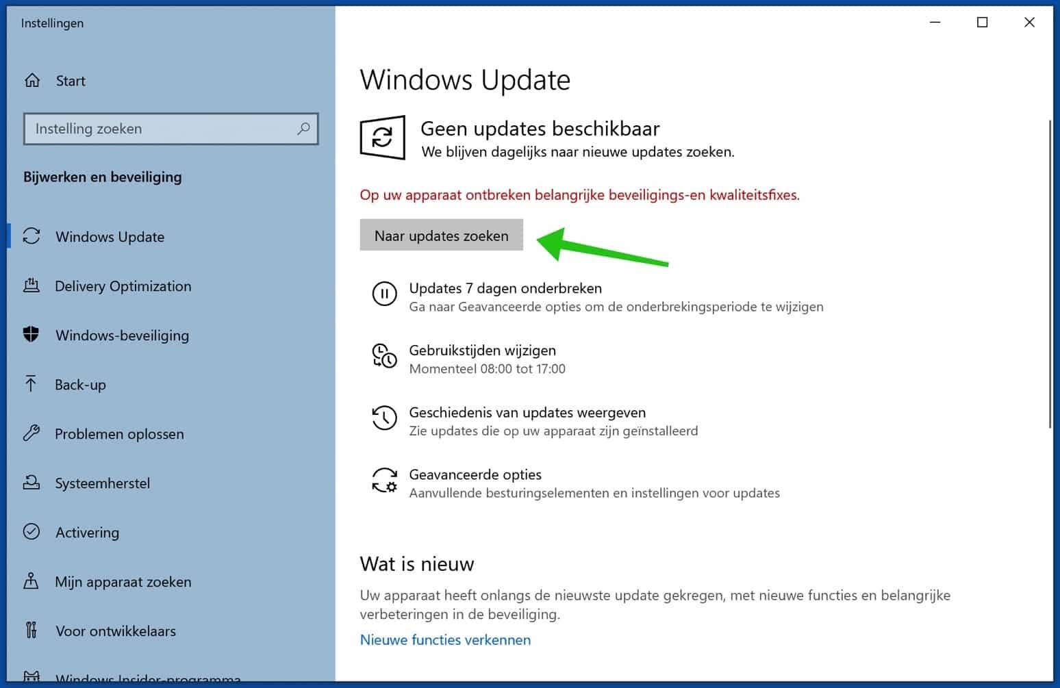 windows updates controleren