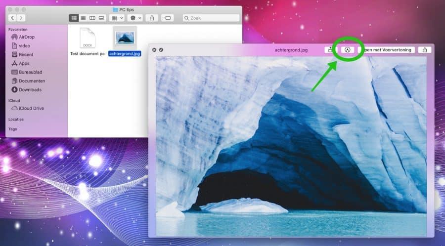 bestanden snel markeren mac