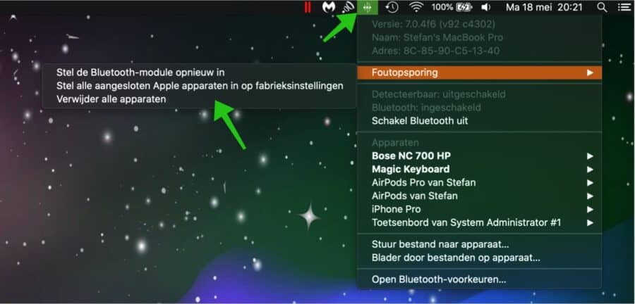bluetooth problemen oplossen mac