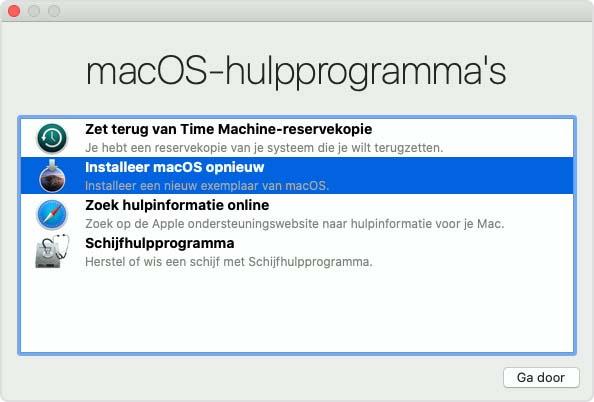 mac herstellen