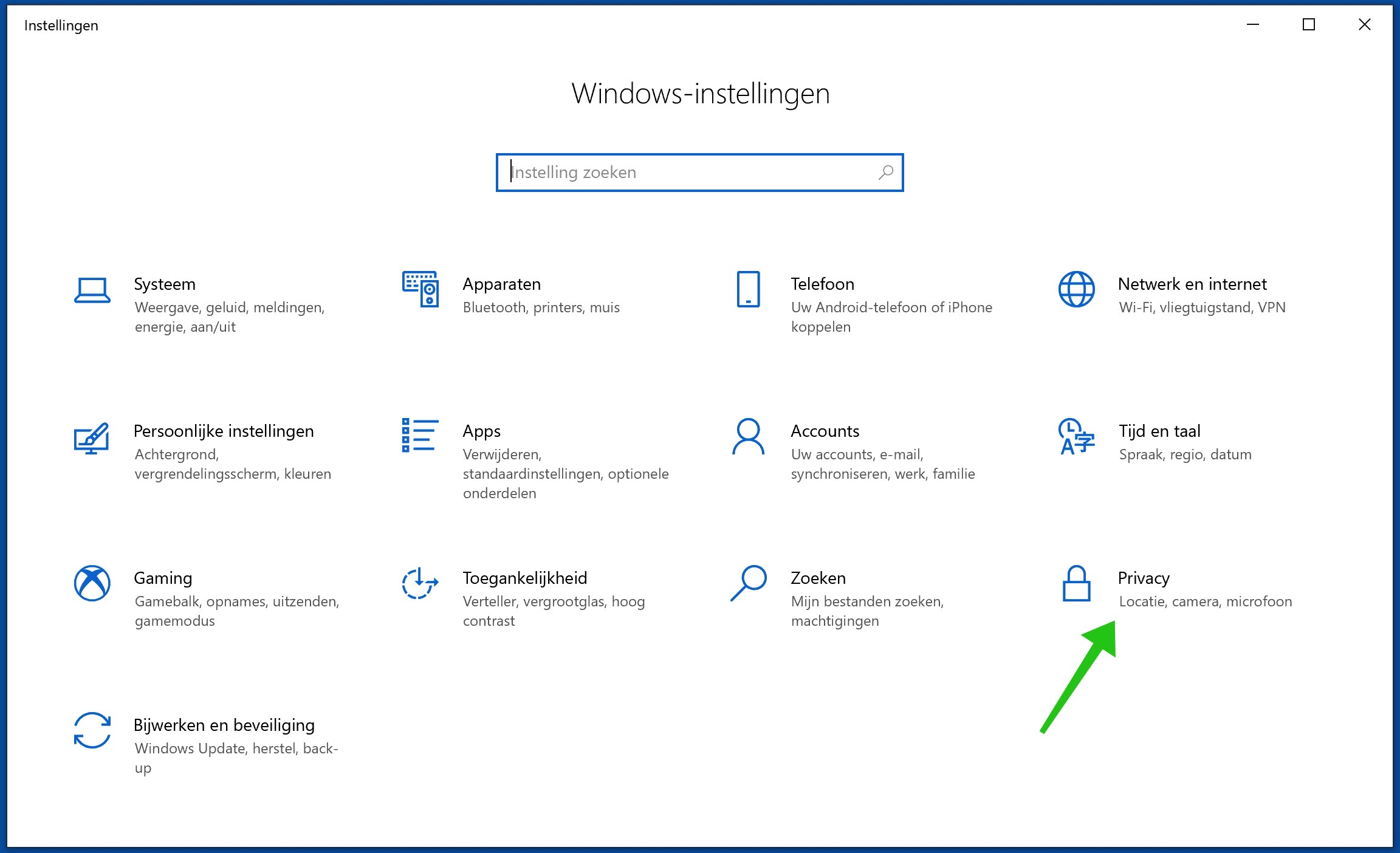 windows 10 privacy instellingen