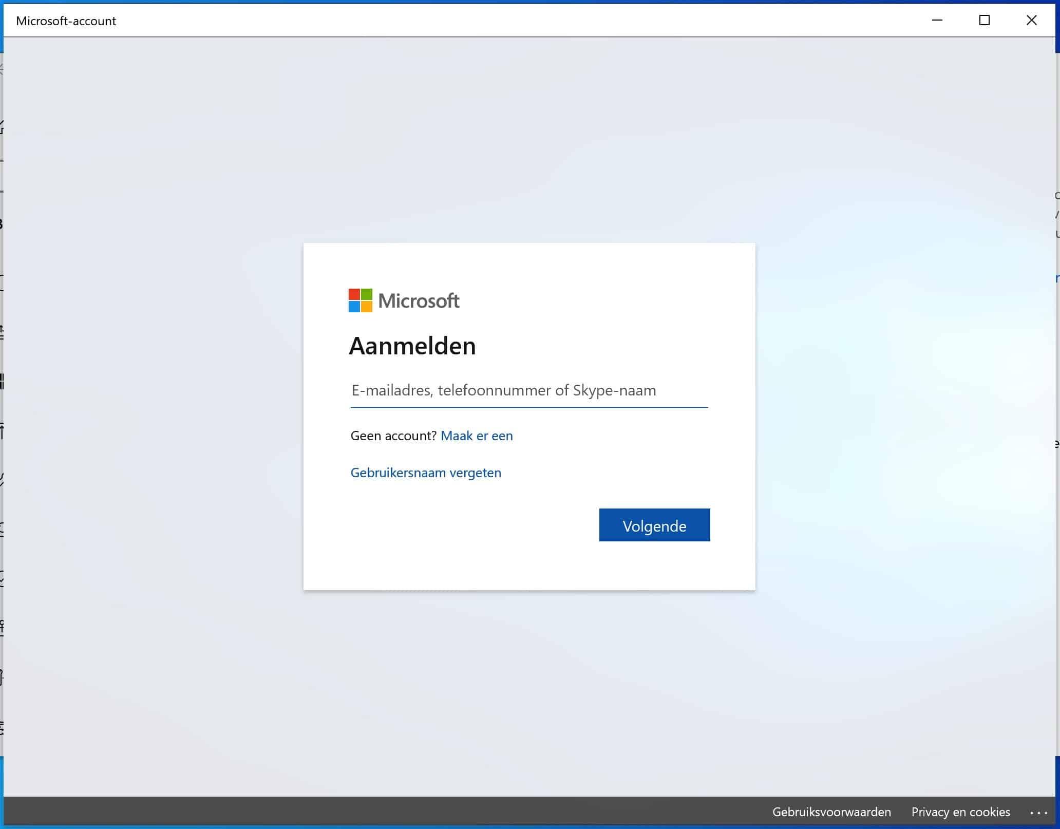 windows online activeren inlog