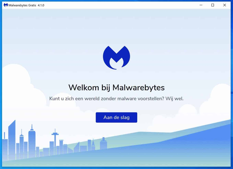 malwarebytes aan de slag
