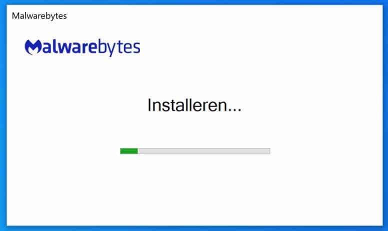 malwarebytes bezig met installeren