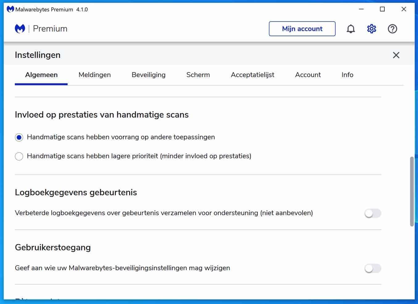 malwarebytes logboekgegevens