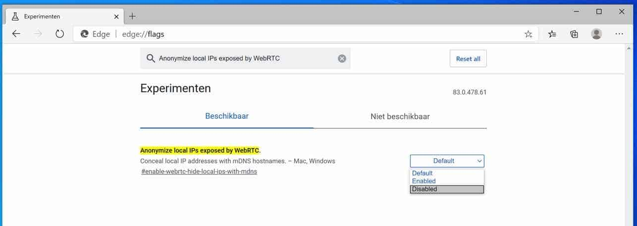 Anonymize local IPs exposed by WebRTC