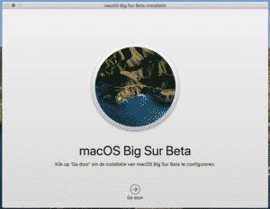 bigsur installatie mac