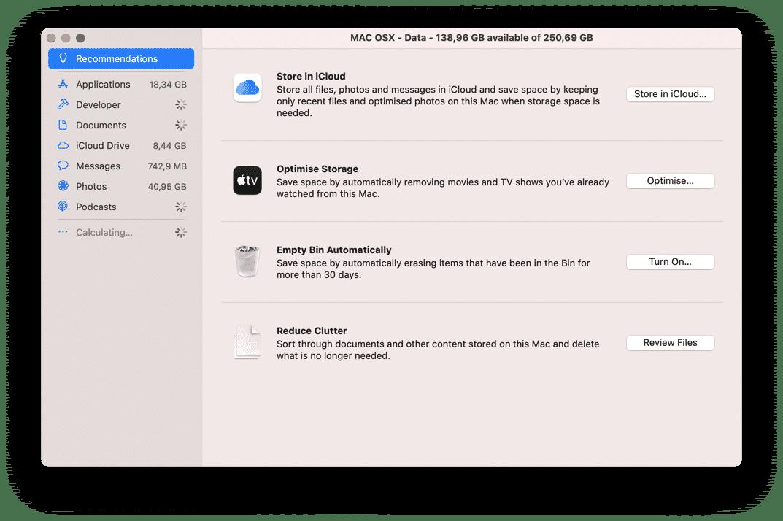 clean up mac storage to speed up mac
