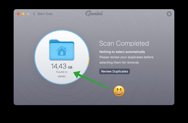 gemini remove duplicate files to make mac faster