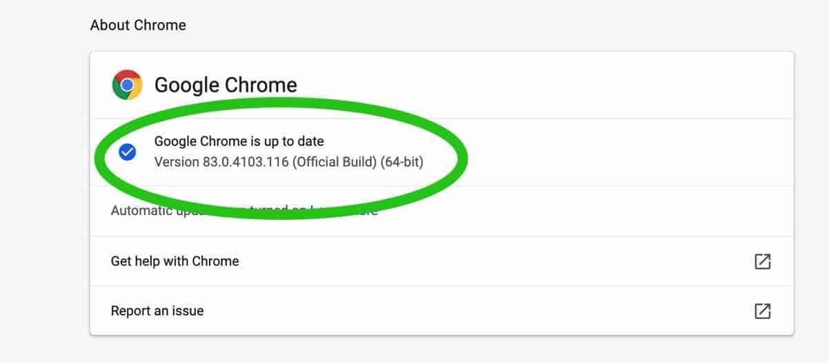 google chrome voor mac versie nummer