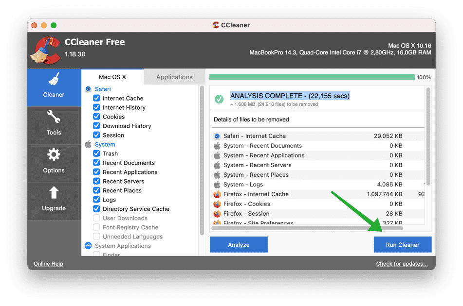 make slow mac better with ccleaner