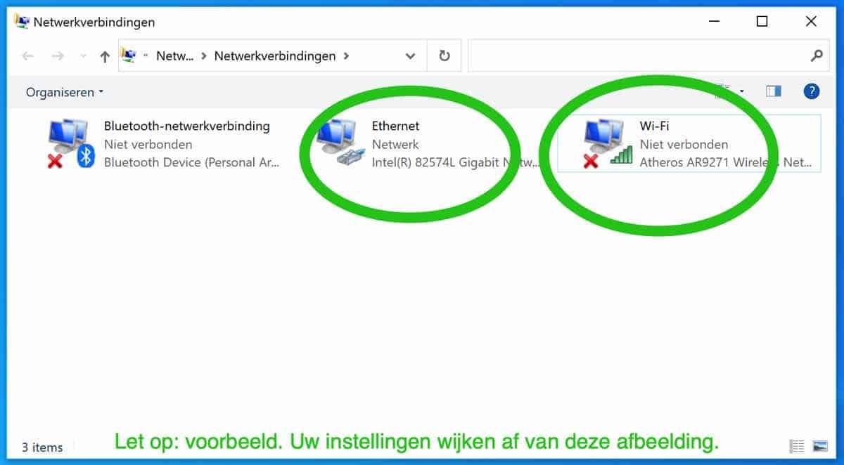 netwerk instellingen windows