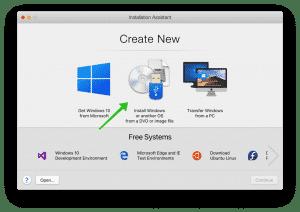 new windows installation parallels desktop