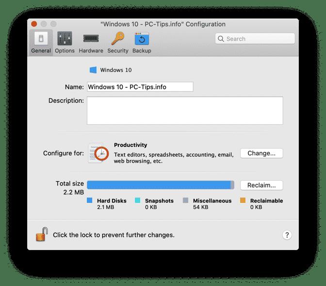 parallels desktop configuratie aanpassen