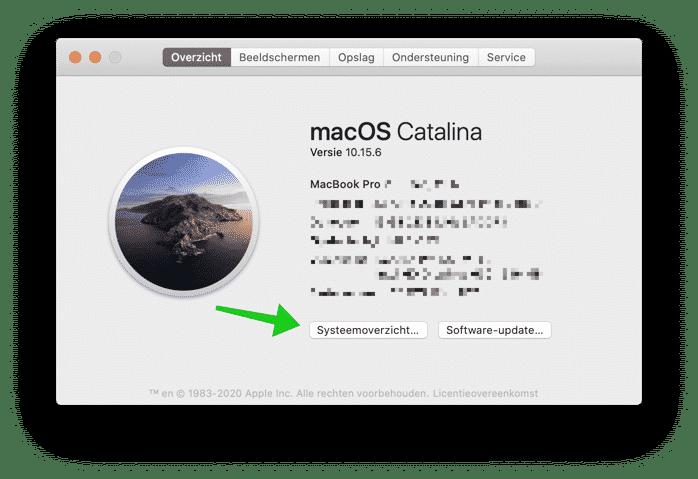 systeemoverzicht mac