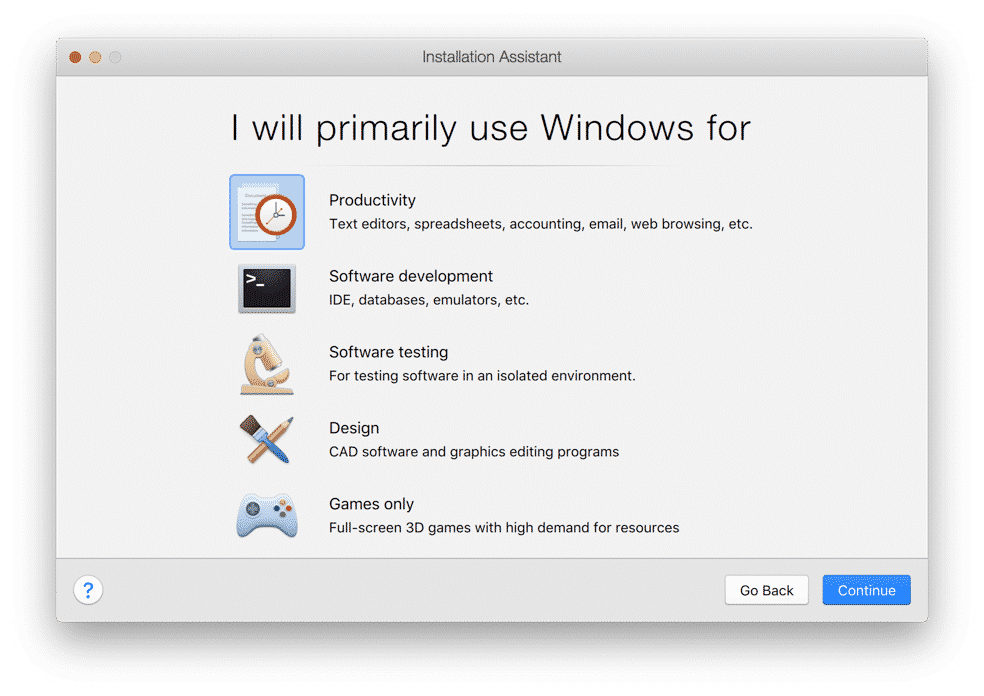 what are going to use windows for parallels desktop