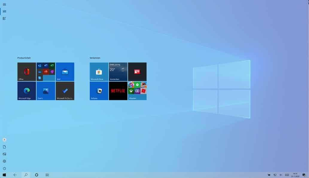 windows 10 in tablet modus
