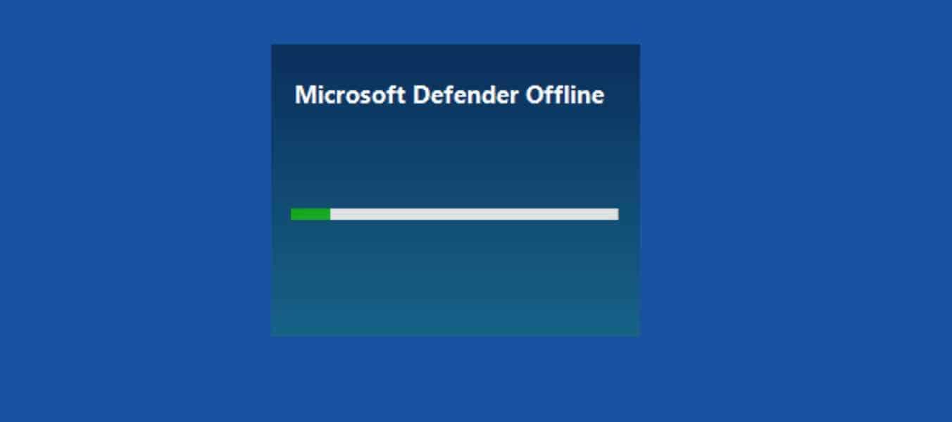 windows antivirus offline scan