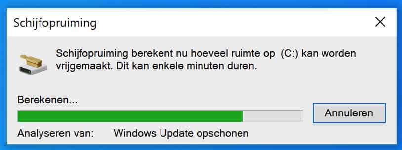 windows bestanden opschonen