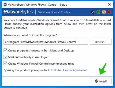 windows firewall control installeren