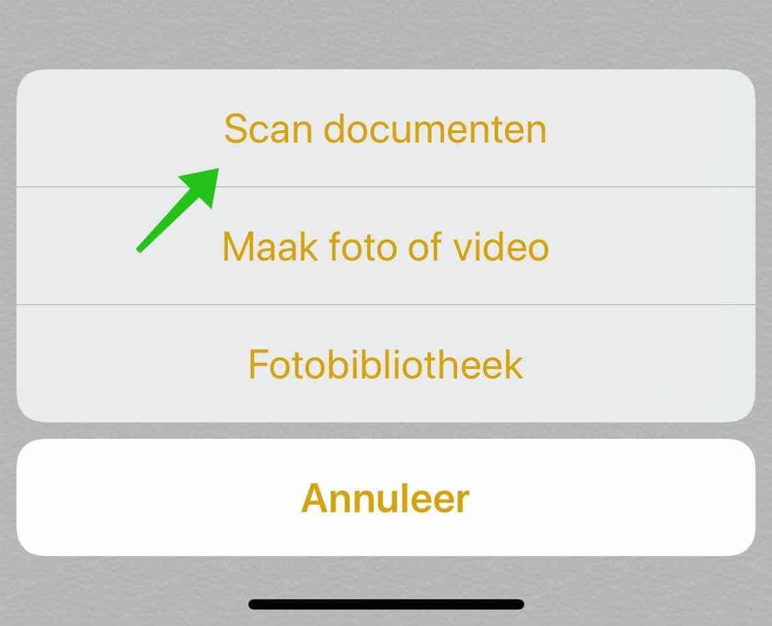 document scannen ios